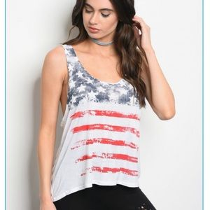 Flag Stars and Stripes tank